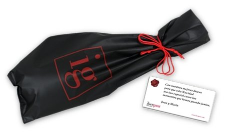 Jamón de Jabugo 5 Jotas in an IberGour wrapping, as a gift