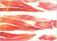 Jabugo jamon slices